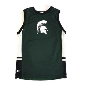 Starter reversible MSU Spartans basketball jersey